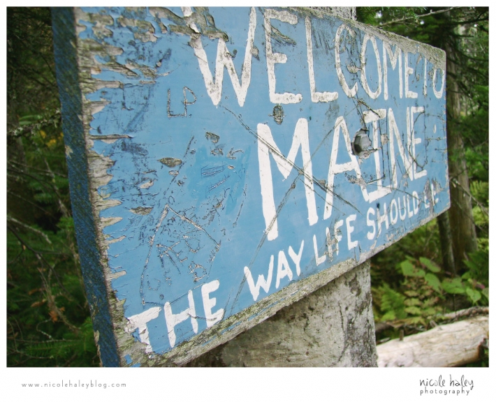nicole haley photography, welcome to maine, sign on appalachian trail